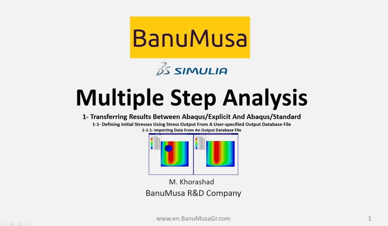 Multiple Step Analysis in Abaqus -tutorial- BanuMusa -Abaqus consultancy